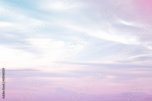 Fototapety, obrazy: Abstract color pastel background, A soft sky with cloud background in pastel color
