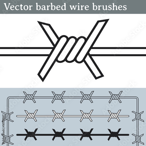 Vector barbed wire brushes. Brushes for Illustrator to draw ... on how to draw feathers, how to draw yarn, how to draw hammer, how to draw ladder,