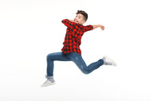 Laughing Boy Jumping In Hustle
