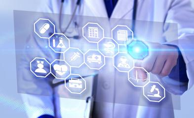Representation communication fields of medicine futuristic representation