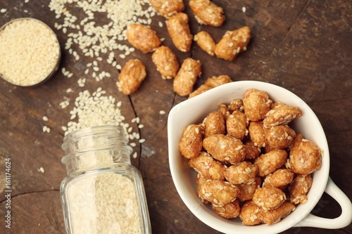 nut coated with sugar seasame