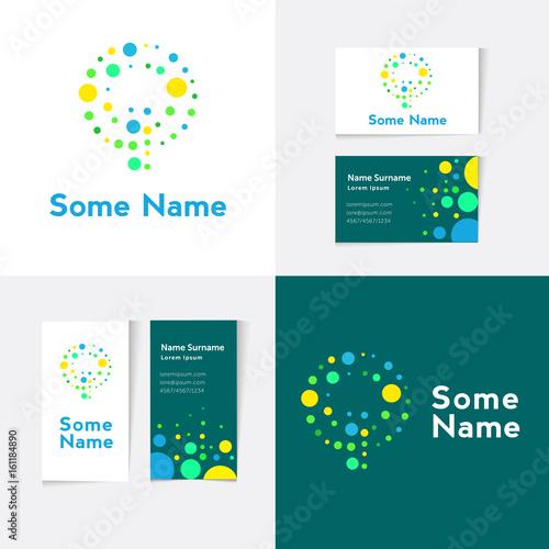 Creative letter q design vector template on the business card creative letter q design vector template on the business card template abstract colorful alphabet reheart Choice Image