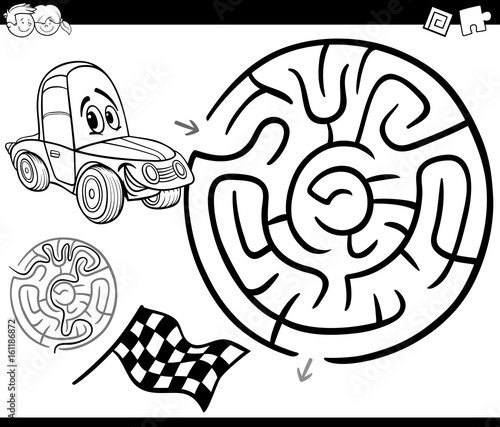 Maze with car coloring page buy this stock vector and for Stock car coloring pages