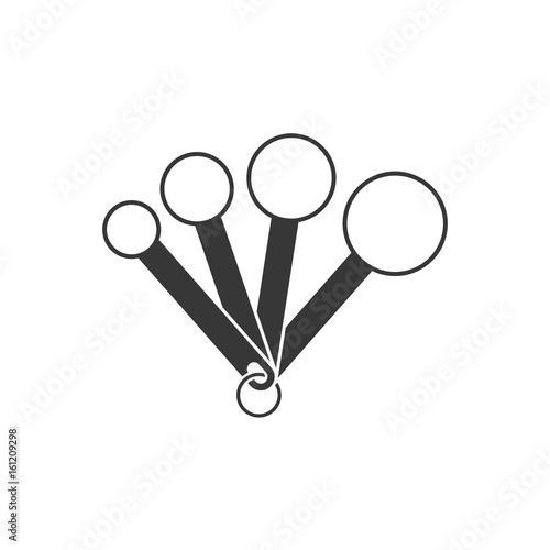 Valokuvatapetti measuring spoon , silhouette design icon