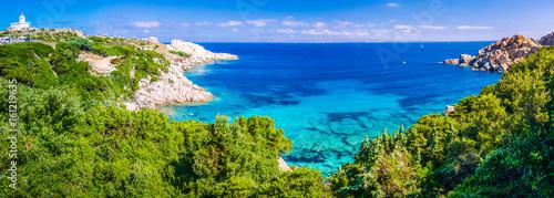 Ingelijste posters Mediterraans Europa Landscape of Capo Testa, Sardinia, Italy