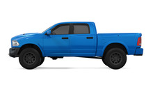 Blue Pickup Truck Isolated