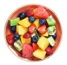 Healthy Fruit Salad Isolated O...