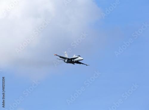 Fotografie, Obraz Jet fighter flying low.