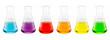 Leinwandbild Motiv sample solution in glass flask