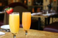 Two Mimosa Cocktail Glasses, H...