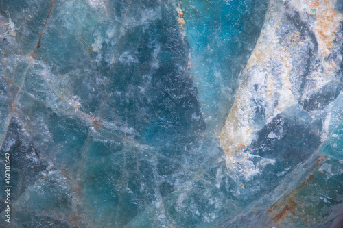 Fotografie, Obraz  Blue Crystal, abstract microscopic texture of minerals as a background