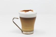 Latte Macchiato In The Glass C...