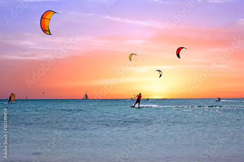 Watersport on Aruba island in the Caribbean Sea
