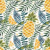 Ananasowy tło. Akwarela Bezszwowy wzór. - 161355435