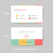 Vector modern and clean business card design template