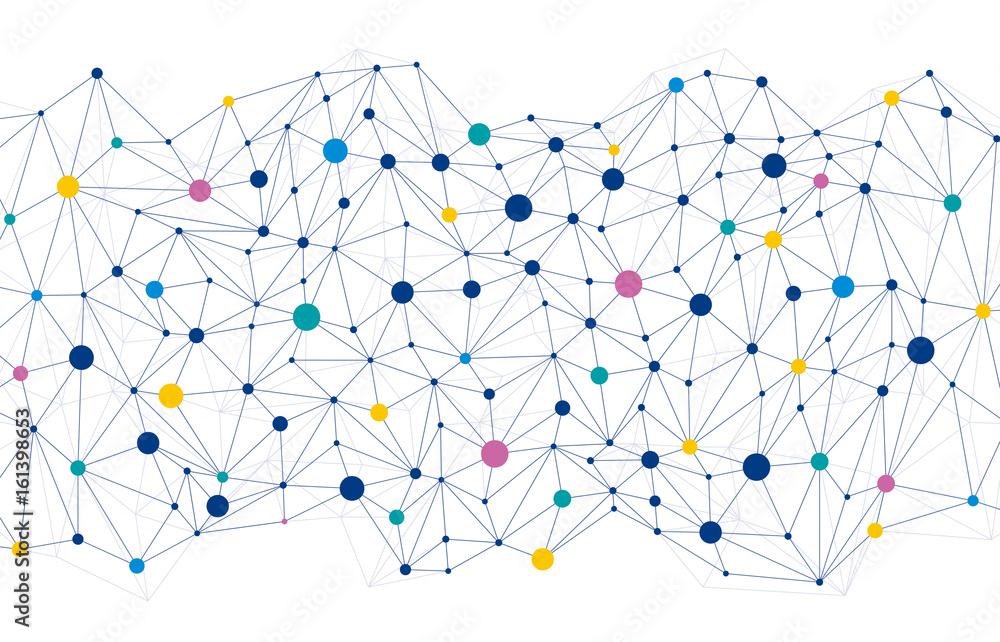 Fototapeta ネットワーク 背景