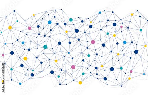 ネットワーク 背景 Canvas Print