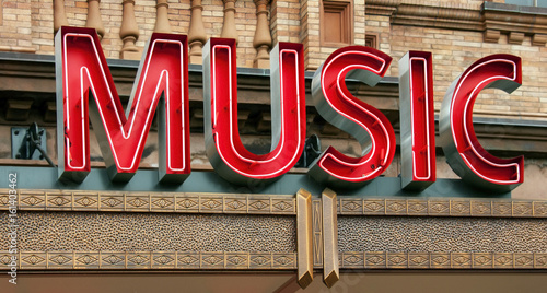 Neon Music Sign - 161403462