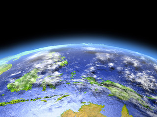 Papua from space