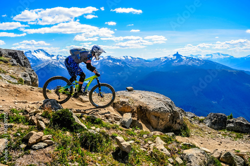 Fotografie, Obraz Whistler Mountain Bike Park, BC, Canada - Top of the wolrd trail, July 2016