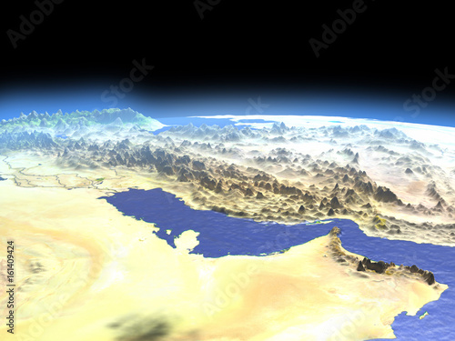Persian Gulf from space Fototapeta