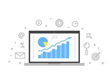Online Analytics Concept Line ...