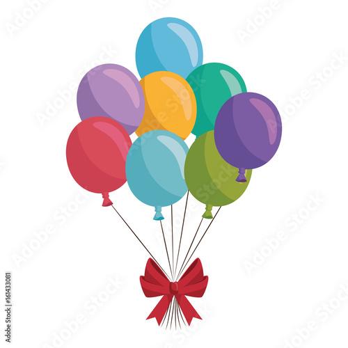 balloons air globes icon vector illustration graphic design Fototapet
