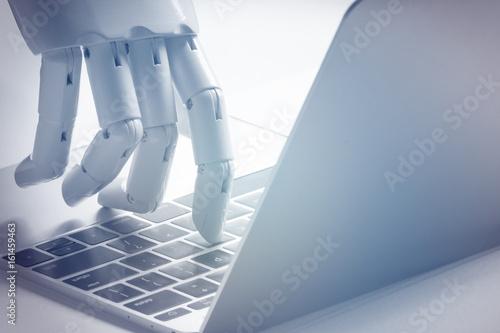 Photo  Chat bot , artificial intelligence , robo advisor , robotic concept
