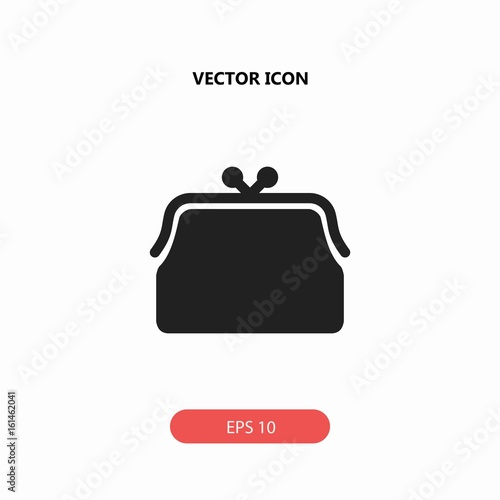 feminine fashion handbag for money vector icon - Buy this stock ... 0d88e6d983