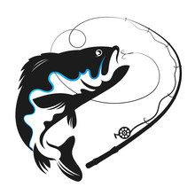 Fish Swallows Bait Vector