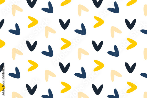 Photo Simple yellow boomerang pattern