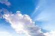 canvas print picture - Sonne versteckt sich hinter Wolke