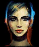 twarz kobiety. ilustracja mody - 161482624