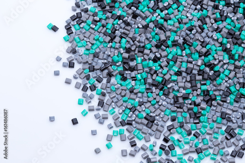 Fotografía  Colorful plastic polymer granules