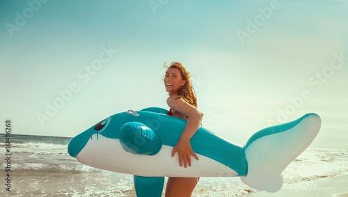 sommer bade urlaub am strand Tablou Canvas