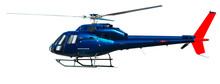 Helicopter With Working Propel...