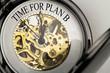 Time for Plan B auf Taschenuhr