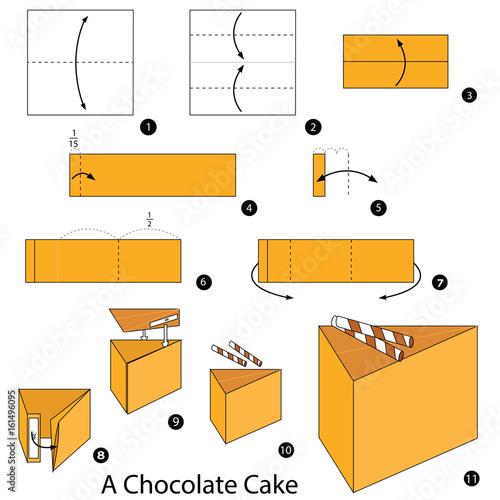 How to make a paper cake -origami cake by Green Ada - issuu | 500x500