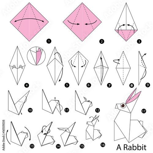 Origami Bunny Rabbit Tutorial - Paper Kawaii | 500x500