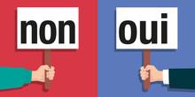 Non - Oui - Choix - Sondage - Liberté - Choisir - Décision - Pancarte - Réponse