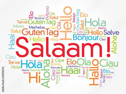 Salaam hello greeting in persianfarsi word cloud in different salaam hello greeting in persianfarsi word cloud in different languages of the m4hsunfo