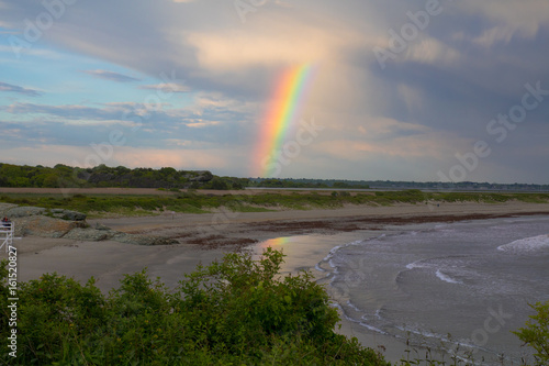 Photo  Rainbow over the ocean at Second Beach in Newport, Rhode  Island