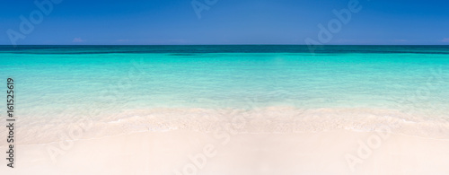 Stampa su Tela Sand and caribbean sea panoramic background, summer and travel concept