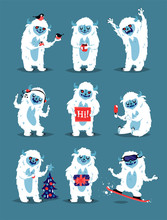 Cute Yeti Abominable Snowman, ...