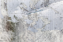 Corroded White Metal Background