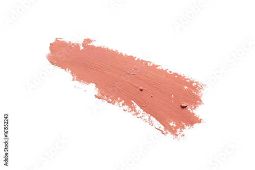 Canvastavla closeup lipstick smudge on white background