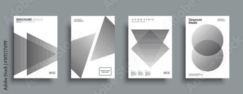 Fotografie, Obraz  Minimal covers design set