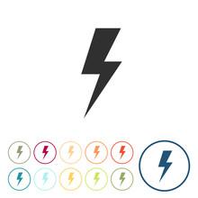 Runde Schaltflächen - Strom -...