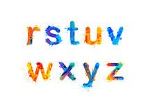 Alphabet. Letters R, S, T, U, ...