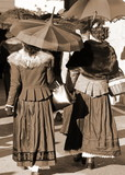 Old ladies dressed in vintage clothes with sepia effect - 161590858